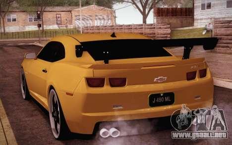 Chevrolet Camaro ZL1 para GTA San Andreas left