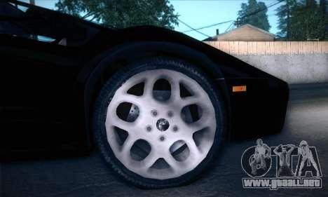 Lamborghini Diablo VT6.0 para visión interna GTA San Andreas