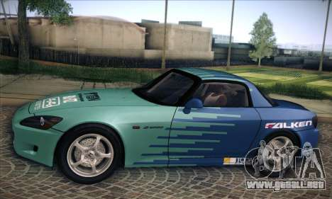 Honda S2000 para vista inferior GTA San Andreas