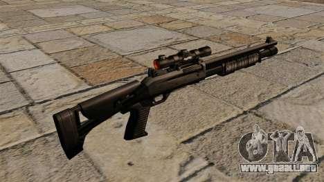 Escopeta semiautomática Benelli M4 Super 90 para GTA 4 segundos de pantalla