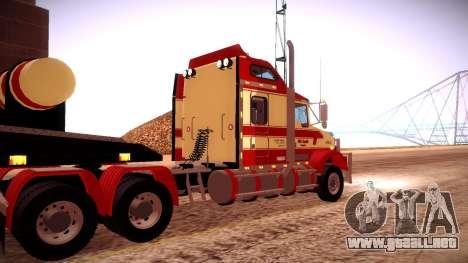 Kenworth RoadTrain T800 para visión interna GTA San Andreas
