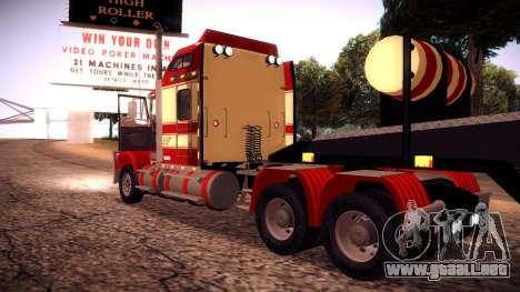 Kenworth RoadTrain T800 para GTA San Andreas vista hacia atrás