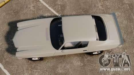 Chevrolet Camaro Z28 1970 v1.1 para GTA 4 visión correcta