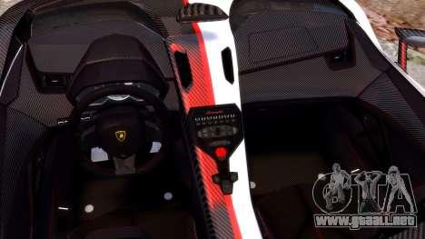 Lamborghini Aventador J 2012 Carbon para GTA 4 vista interior
