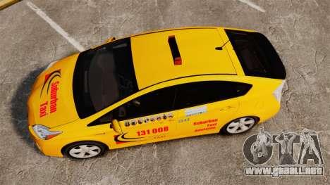 Toyota Prius 2011 Adelaide Taxi para GTA 4 visión correcta