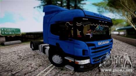Scania P400 para GTA San Andreas vista hacia atrás