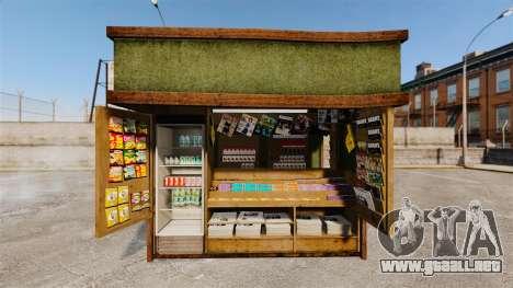 Nuevos productos en el quiosco del café para GTA 4
