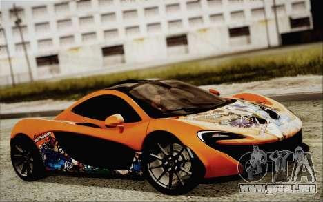 McLaren P1 2014 v2 para GTA San Andreas vista hacia atrás
