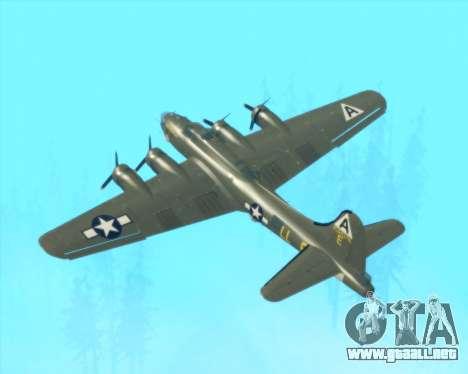 B-17G para la vista superior GTA San Andreas