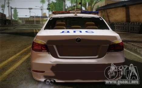 BMW 530xd DPS para GTA San Andreas vista posterior izquierda