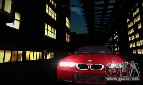 BMW E46 M3 CSL para visión interna GTA San Andreas