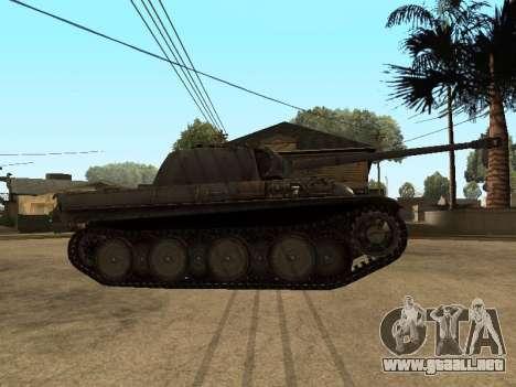 Pzkfpw V Panther para GTA San Andreas vista posterior izquierda
