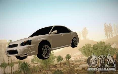 Congelación de coche en aire para GTA San Andreas segunda pantalla