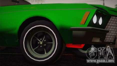 Buick Riviera 1972 Carbine Version para GTA San Andreas vista hacia atrás