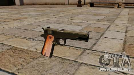 Pistola Colt M1911 Black Edition para GTA 4
