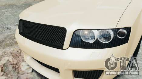 Audi S4 2004 para GTA 4 vista hacia atrás