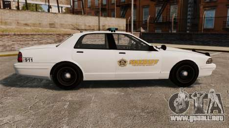 GTA V Police Vapid Cruiser Sheriff para GTA 4 left
