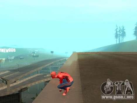 Se agacha como el asombroso Spider-man para GTA San Andreas