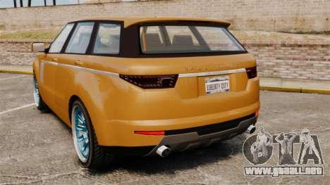 GTA V Gallivanter Baller para GTA 4 Vista posterior izquierda