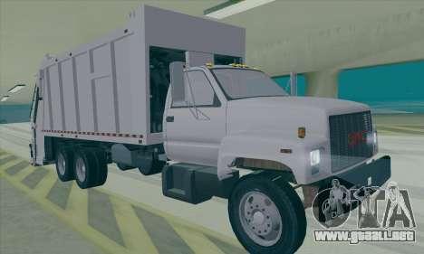 GMC C550 Topkick Trashmaster para GTA San Andreas left