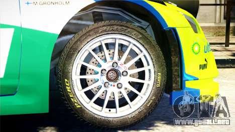 Ford Focus RS M Gronholm Rally Finland WRC para GTA 4 visión correcta