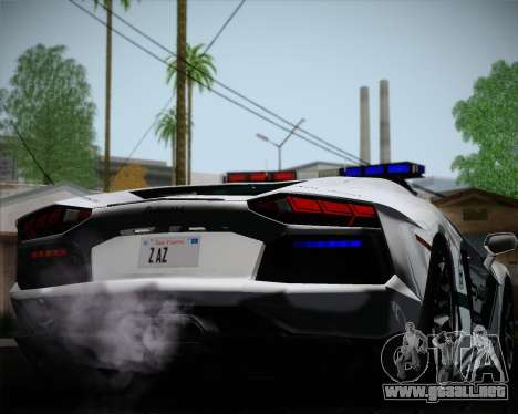 Lamborghini Aventador LP700-4 2012 RCPD V1.0 para vista lateral GTA San Andreas