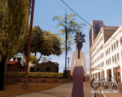 Indo-Japan High School Girl Uniform para GTA San Andreas tercera pantalla