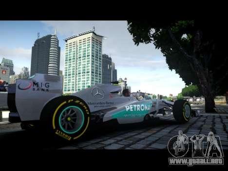 Mercedes F1 W04 para GTA 4 left