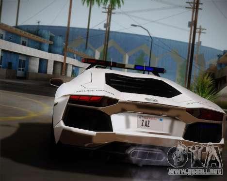 Lamborghini Aventador LP700-4 2012 RCPD V1.0 para GTA San Andreas vista posterior izquierda