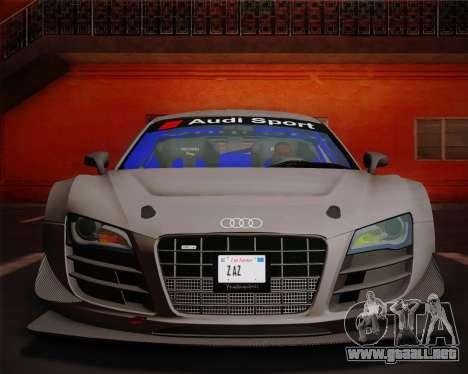 Audi R8 LMS Ultra v1.0.1 DR para visión interna GTA San Andreas