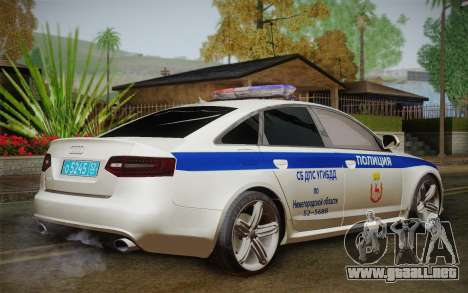 Audi RS6 Police para GTA San Andreas left