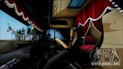Scania P400 para GTA San Andreas vista posterior izquierda