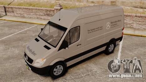 Mercedes-Benz Sprinter 2500 2011 v1.4 para GTA 4 ruedas