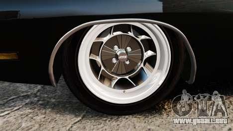 Dodge Charger 1969 para GTA 4 vista hacia atrás