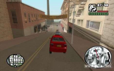 Speedometr da Rockstar para GTA San Andreas segunda pantalla