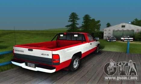 Dodge Ram 2500 para la visión correcta GTA San Andreas