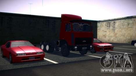 MAZ 5432 para GTA San Andreas vista hacia atrás