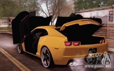 Chevrolet Camaro ZL1 para GTA San Andreas vista hacia atrás