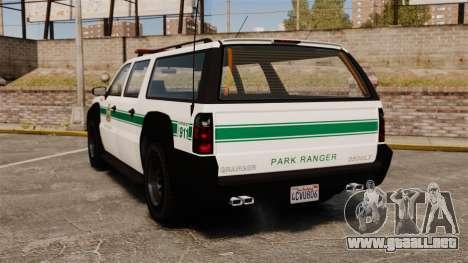 GTA V Declasse Granger Park Ranger para GTA 4 Vista posterior izquierda