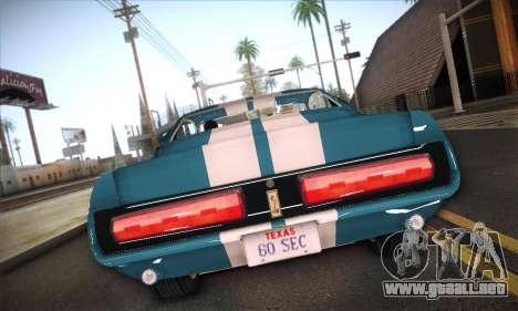 Shelby GT500 E v2.0 para la visión correcta GTA San Andreas