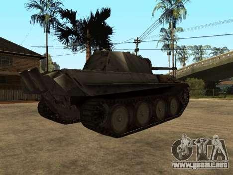 Pzkfpw V Panther para GTA San Andreas vista hacia atrás