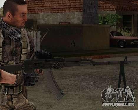 El RPK-74 m para GTA San Andreas tercera pantalla