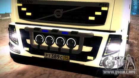 Volvo FH16 para GTA San Andreas vista hacia atrás