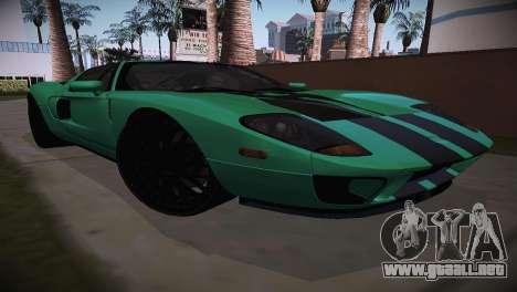 Ford GT TT Ultimate Edition para GTA San Andreas vista posterior izquierda