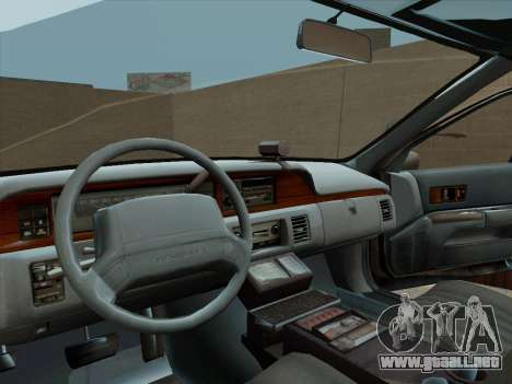 Chevrolet Caprice LAPD 1991 para la visión correcta GTA San Andreas