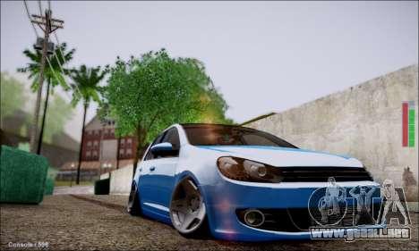 Volkswagen mk6 Stance Work para GTA San Andreas left