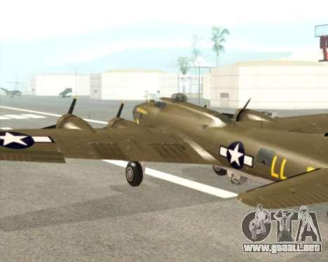 B-17G para visión interna GTA San Andreas