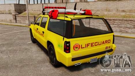 GTA V Declasse Granger 3500LX Lifeguard para GTA 4 Vista posterior izquierda
