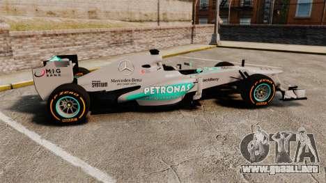 Mercedes AMG F1 W04 v3 para GTA 4 left