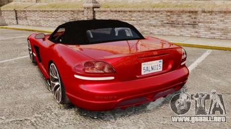 Dodge Viper SRT-10 2003 para GTA 4 Vista posterior izquierda